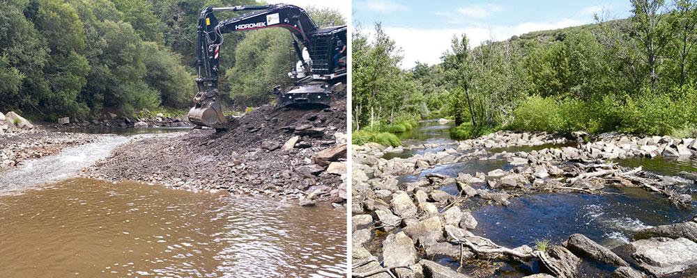 Actuaciones de conservación y mejora de las reservas naturales y fluviales