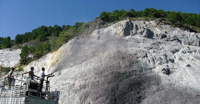 Envejecimiento cromático de roca