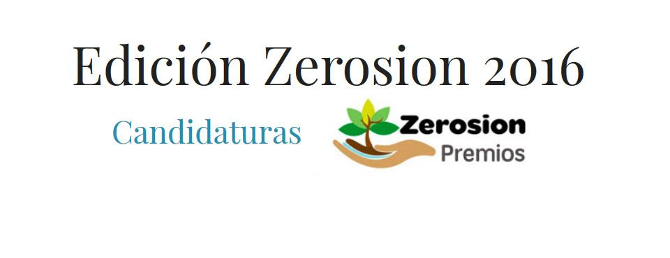 Candidatos al Premio Zerosion 2016